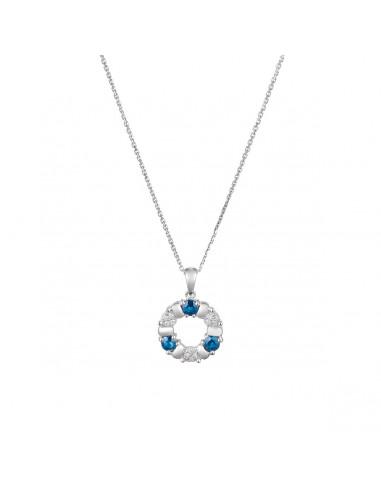 "Pendentif ""Port Royal"" Diamants 0,05/12 & Saphirs 0,54/3"