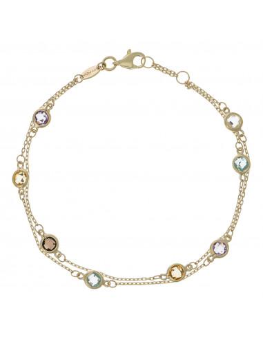 """Bracelet """"Double Petites Pépites"""" Or jaune 375/1000"""