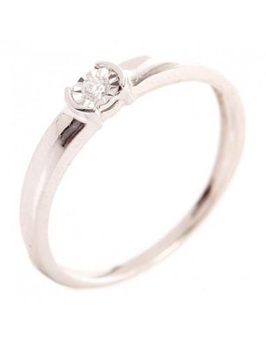 "Bague Or Blanc 375/1000 ""Mirage"" Diamants 0,04/1"