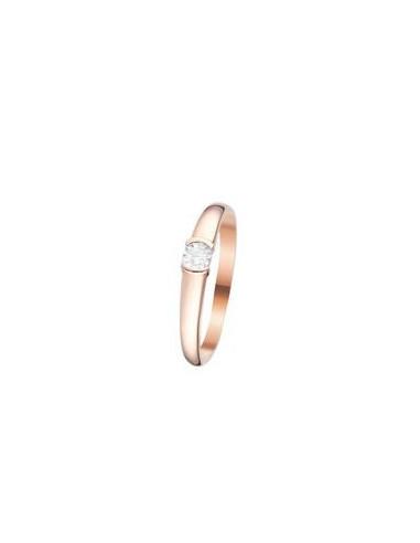 "Bague Or Rose 375/1000 ""Mirage"" Diamants 0,04/1"