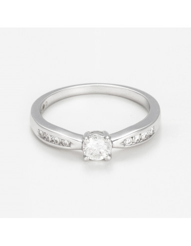 """Bague Or Blanc 375/1000 """"Marry You"""""""
