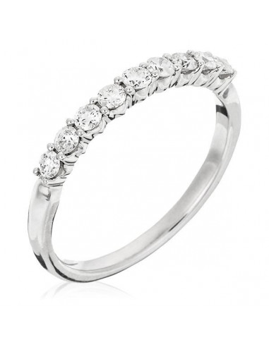 """Bague Or Blanc 375/1000 """"Only You 0,33ct"""" Diamants 0,33ct/9"""