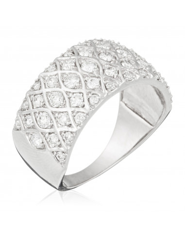 """Bague Or Blanc 375/1000 """"Love story"""" D0,75/48"""
