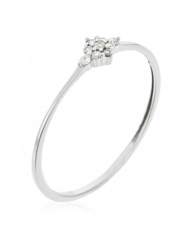 "Bague Or Blanc 375/1000 ""Alma"" Diamants 0,05/9"