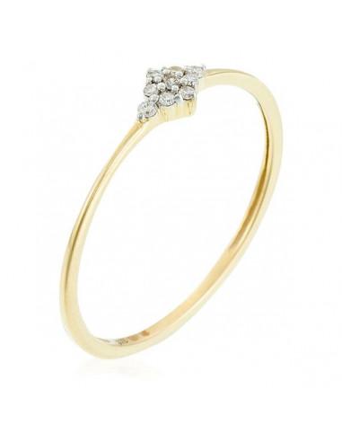 "Bague Or Jaune 375/1000 ""Alma"" Diamants 0,05/9"