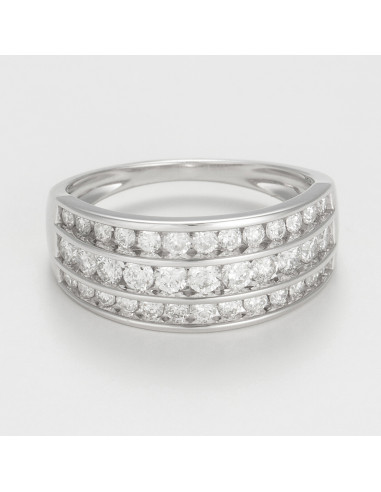 """Bague Or Blanc 375/1000 """"Omeïma"""" D 1 ct/47"""