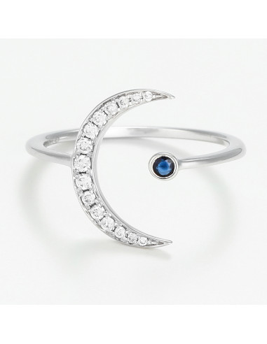 """Bague Or Blanc 375/1000 """"Plouto"""""""