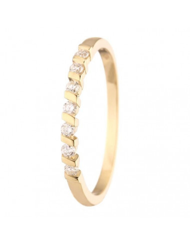 """Bague Or Jaune 375/1000 """"Be Yours"""" D0,15ct/7"""