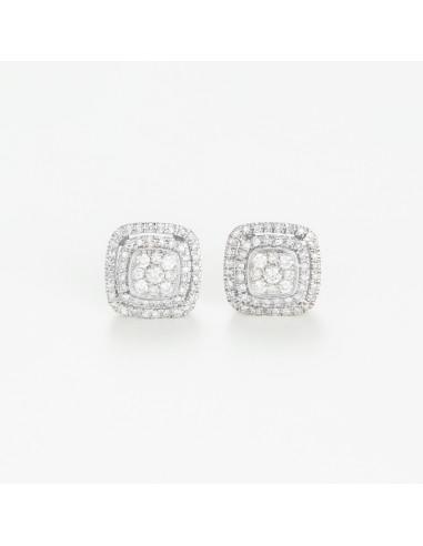Boucles d'oreilles Or Blanc 375/1000s
