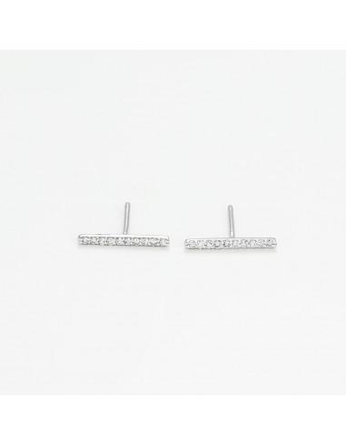 "Boucles d'oreilles Or Blanc 375/1000 ""Nysa"""