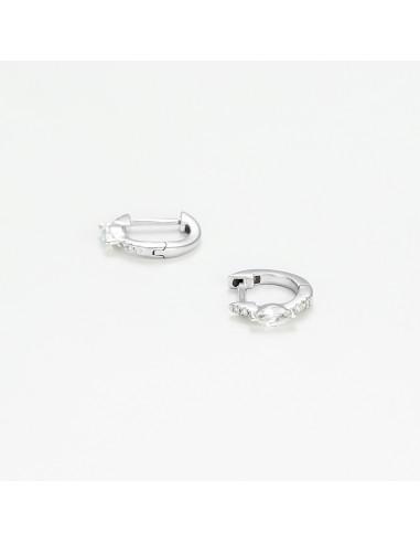 """Boucles d'oreilles Or Blanc 375/1000 """"Thalie"""""""