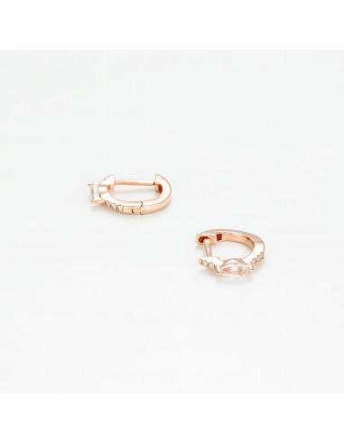 """Boucles d'oreilles Or Rose 375/1000 """"Thalie"""""""