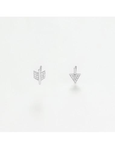 """Boucles d'oreilles Or Blanc 375/1000 """"Niobé"""""""