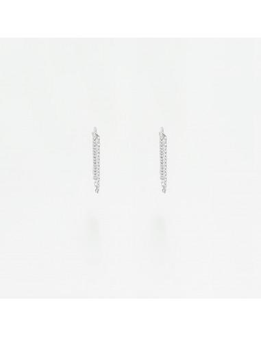"""Boucles d'oreilles Or Blanc 375/1000 """"Mélaïna"""""""