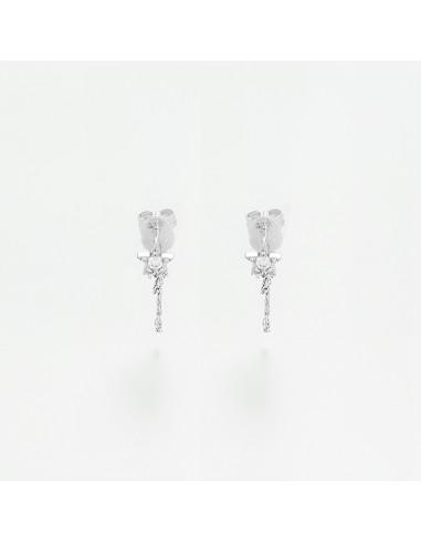 """Boucles d'oreilles Or Blanc 375/1000 """"Elnath"""""""