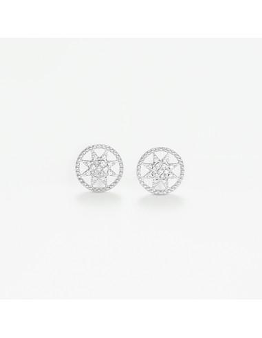 """Boucles d'oreilles Or Blanc 375/1000 """"Electre"""""""