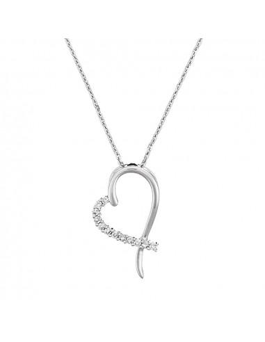 """Pendentif Or Jaune 375/1000 """"Tender Heart"""" Diamant 0,06/12"""