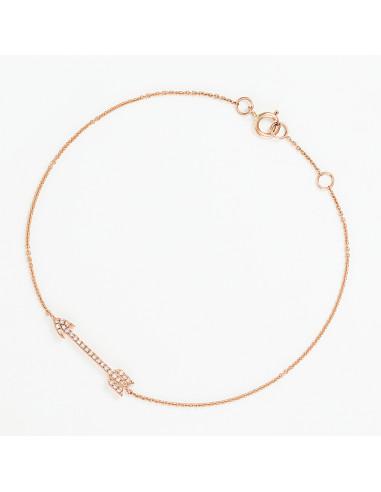 """Bracelet Or Rose 375/1000 """"Déro"""""""