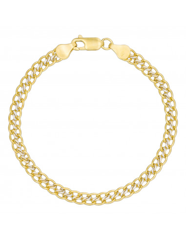 "Bracelet Or Jaune 375/1000 Maille ""Pena"""