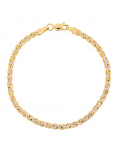 "Bracelet Or Bicolore 375/1000 Maille ""Golya"""