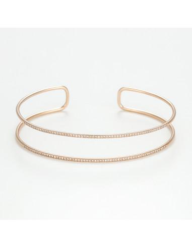 """Bracelet Or Rose 375/1000 """"Evenos"""""""