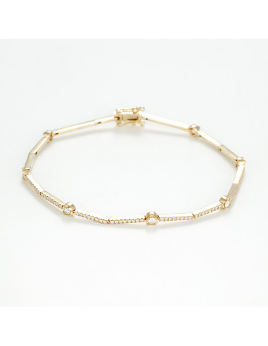 "Bracelet Or Jaune 375/1000 ""Rhodéia"""