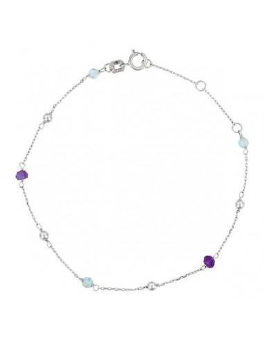 "Bracelet Or Blanc 375/1000 ""Indigo"""