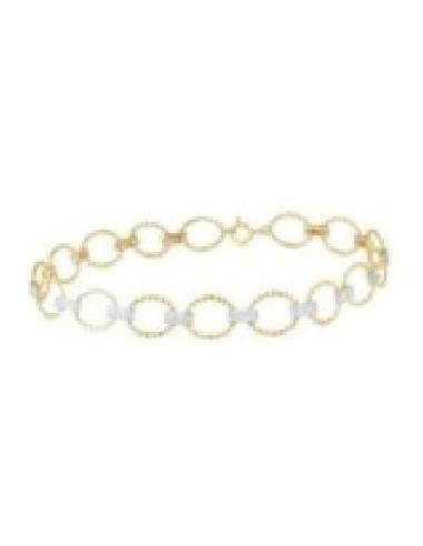 "Bracelet Or Jaune 375/1000 Riviére ""Encadenada"" 0,50ct/168"