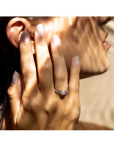 Bague Brillant Somptueux Diamant: 0,12ct/38 & 0,18/1