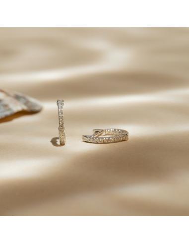 Boucles d'oreilles Perfect créoles Diamant 0,08/42