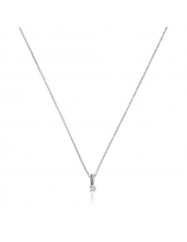 """Pendentif Or Blanc 750/1000 """"Mon Diamant PM"""" Diamant: 0,05ct/1"""