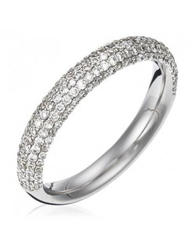 "Bague Or Blanc 750/1000 ""Say yes"" Diamant 0,76/164"