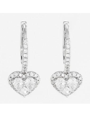 Boucles d'oreilles Or Blanc 750/1000 D 1,08ct/64