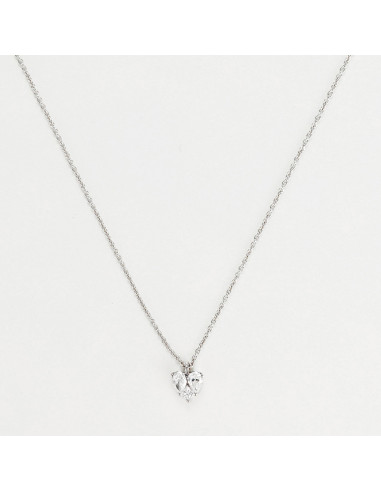 Collier Or Blanc 750/1000 D 0,25/3