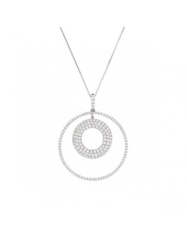 Pendentif Cercle Magique Or Blanc et Diamant 2,32ct