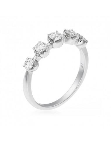 Bague Olympe Or Blanc et Diamant 0,57ct