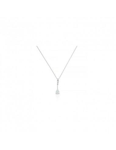 Collier Léonce Or Blanc et Diamant 0,42ct