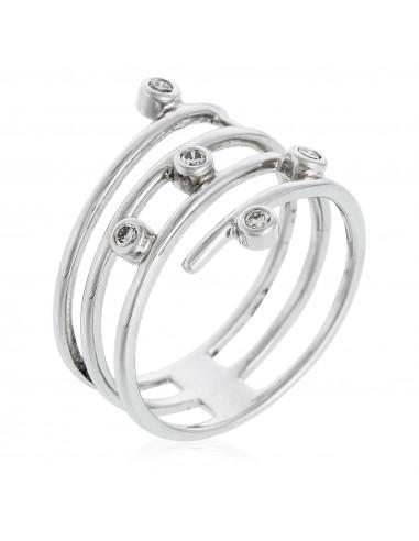 Bague Ajman Or Blanc et Diamants 0,90 carats